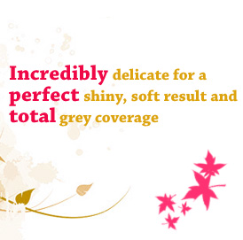 Incredibly delicate for a perfect shiny, soft result and total grey coverage